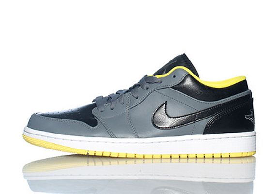 Air Jordan 1 Low: Cool Grey   Black   Vibrant Yellow