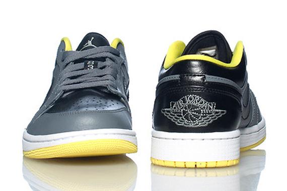 Air Jordan 1 Low: Cool Grey - Black - Vibrant Yellow - Air ...