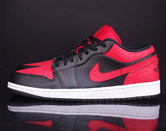 Air Jordan 1 Low: Red Elephant Print