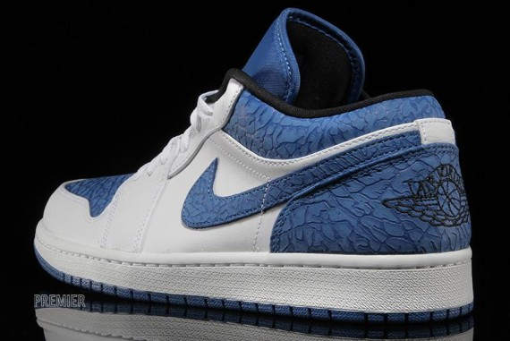 Air Jordan 1 Low: White   Sport Blue   Black