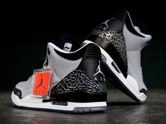 """ff3a9e26216c01 The Air Jordan 3 """"Wolf Grey"""" is arriving at retailers tomorrow"""