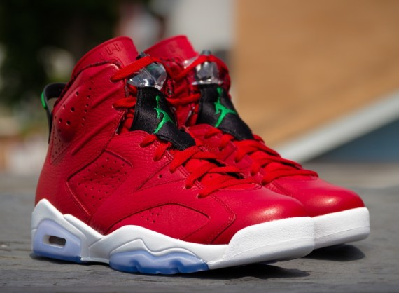 "Air Jordan 6 ""History of Jordan"" Color  Varsity Red Classic Green-Black- White Style Code  694091-625. Release Date  08 09 14. Price   170 e0841a61d"