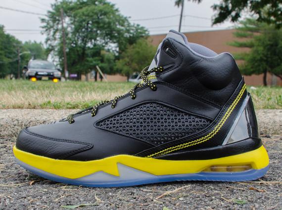 67ca6ce15c57 Air Jordan Future Flight Remix  Wolf Grey - Vibrant Yellow - Black ...