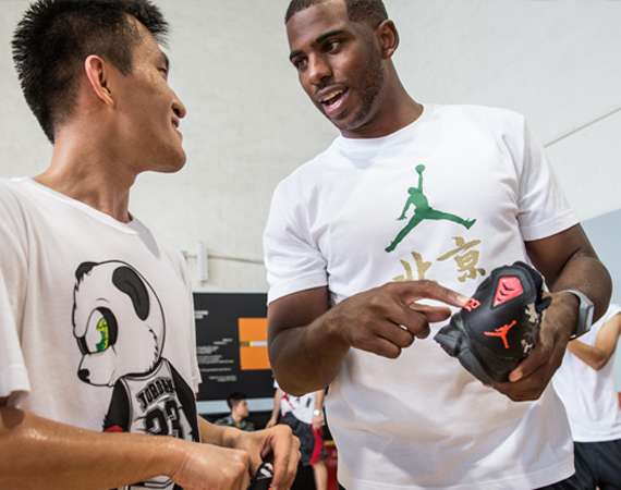 Chris Paul Hand Delivers New Jordan CP3.VIIs on Beijing Flight Tour