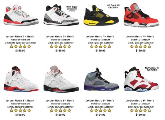 Air Jordan Restock at Eastbay for July 22nd