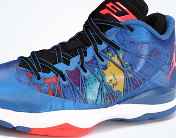 Jordan CP3.VII AE: Sport Blue Splatter   Available on eBay
