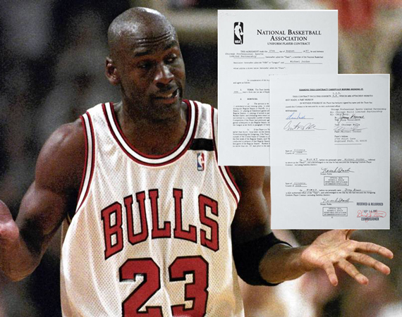 Michael Jordans Record $33 Million 1997 Bulls Contract Goes to Auction