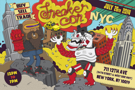 Sneaker Con NYC: Saturday, July 26th   Event Reminder