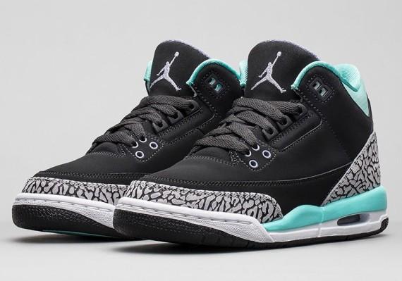 Air Jordan 3 GS: Bleached Turquoise   Nikestore Release Info