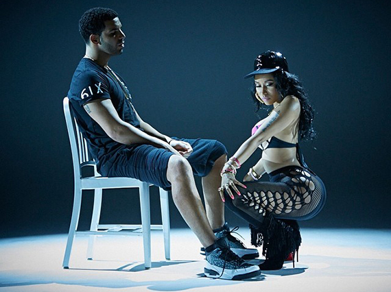 Drake Shows Off New Air Jordan 3s in Nicki Minajs Anaconda Video