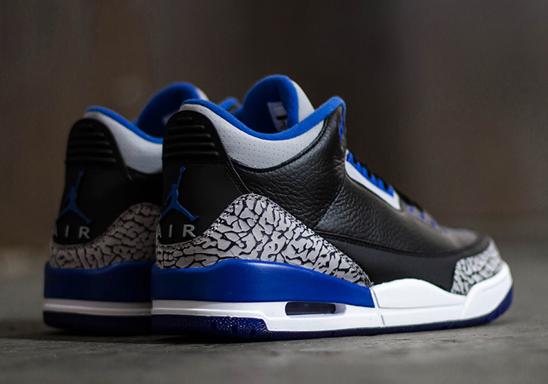 "97e380a23edd The history of alternate Blue Air Jordan retros just got a bit deeper with  this weekend s addition of the Air Jordan 3 ""Sport Blue""."