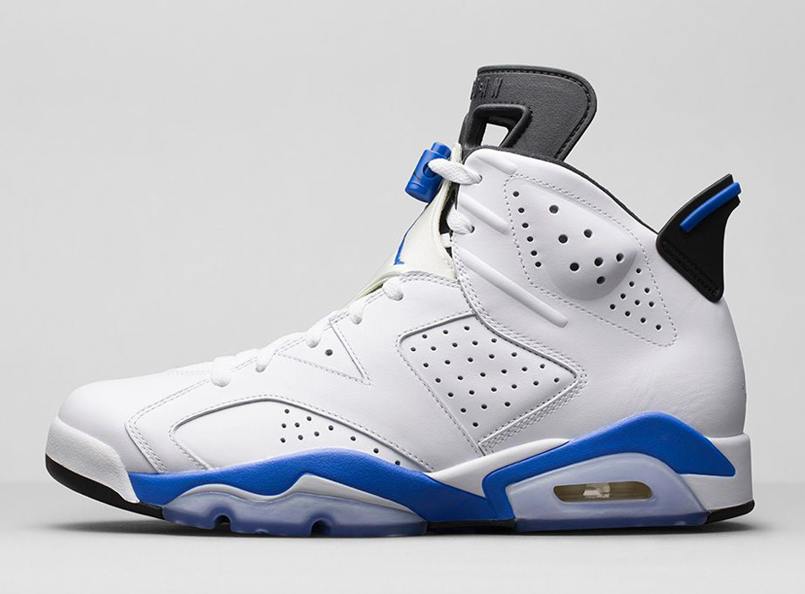 Nike Air Jordan Vi Blanco / Azul Del Deporte 1991 Eclipse Footaction descuento descuento con MasterCard 1J4uoDEI