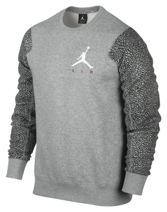 air jordan elephant crew mens sweatshirt size