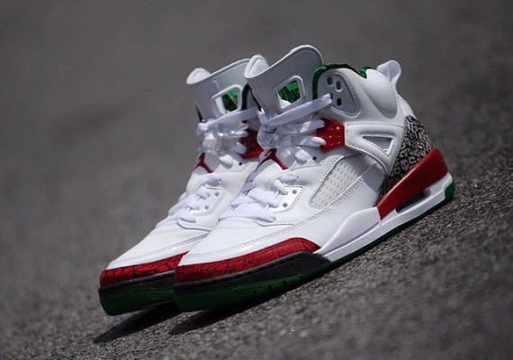 info for 1142f 73969 Air Jordan Spizike White Varsity Red Classic Green shoes