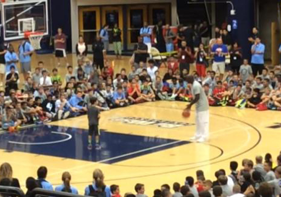 Michael Jordan Drains 11 Shots in a Row at Basketball Camp