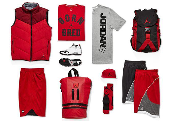 Air Jordan 14: Black Toe   Apparel Collection