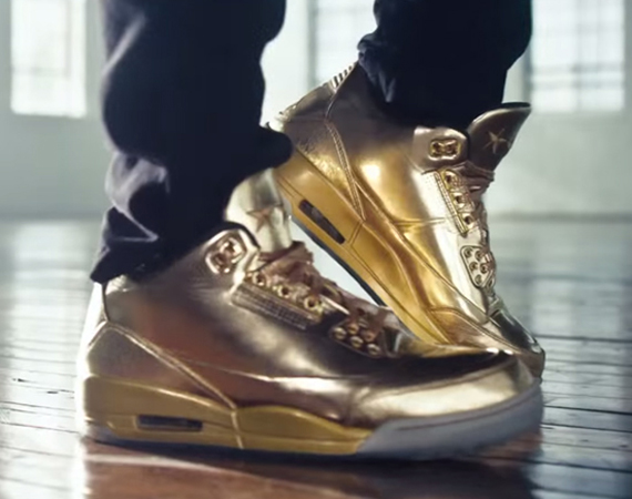 Usher Previews Air Jordan 3 Gold PE in Honey Nut Cheerios Ad