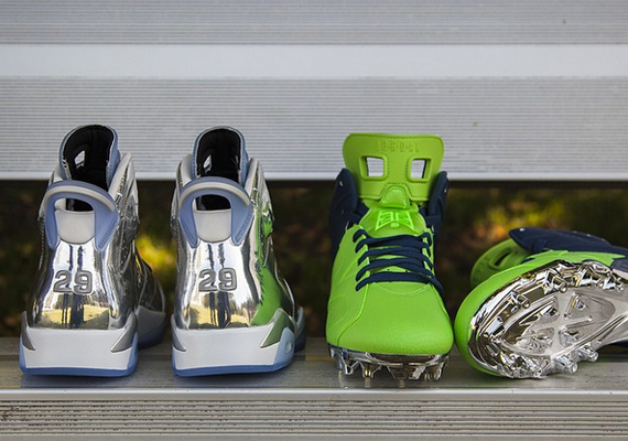 Earl Thomas Wears Air Jordan 6 Chrome Championship PE