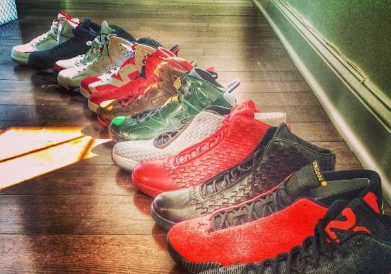 Just Blaze Shows Off His Air Jordan Retro Collection for Fall 2014