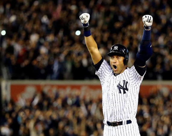 Derek Jeter Hits Walk Off Single to Win Last Game at Yankee Stadium