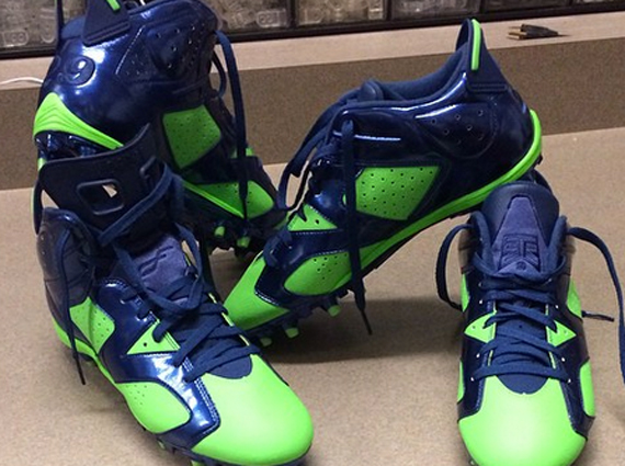 Earl Thomas Showcases Air Jordan 6 Seahawks PE Cleats