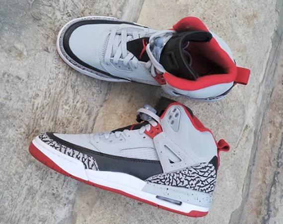 Jordan Spizike GS: Grey   Black   Red