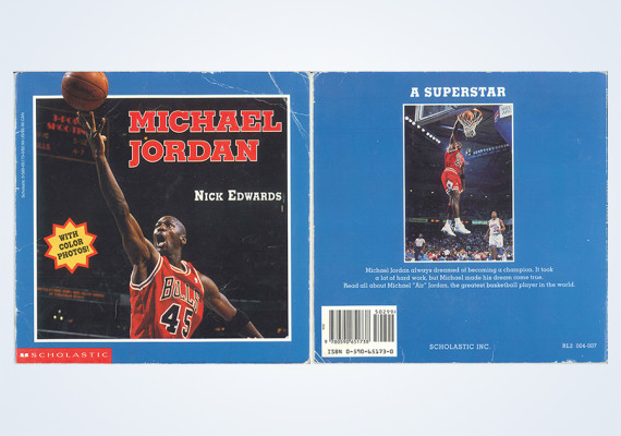 A Detailed Look at a Vintage Michael Jordan Childrens Book from 1995
