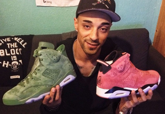 Cactus and Clay Air Jordan 6 PEs for Macklemore