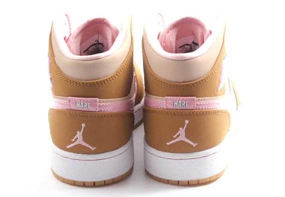 """a662ac65aed Girls Air Jordan 1 Mid """"Lola Bunny"""" Color  Wheat Pink Glaze-Shimmer Style  Code  724072-730. Release Date  4 4 15. Price   90"""