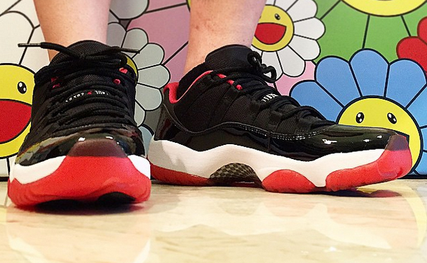 "Air Jordan 11 Low ""Bred"" On-Feet - Air Jordans, Release ... Jordan 11 Bred On Feet"