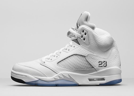 ff20769a3dd Air Jordan 5 Retro - White - Metallic Silver - Official Release Info ...