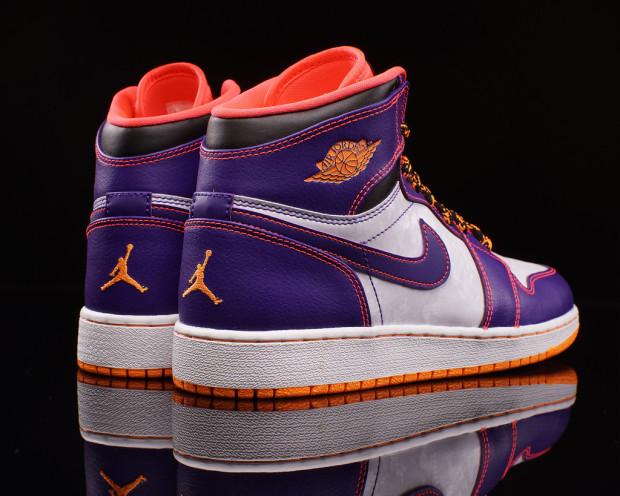 orange and purple jordan just came