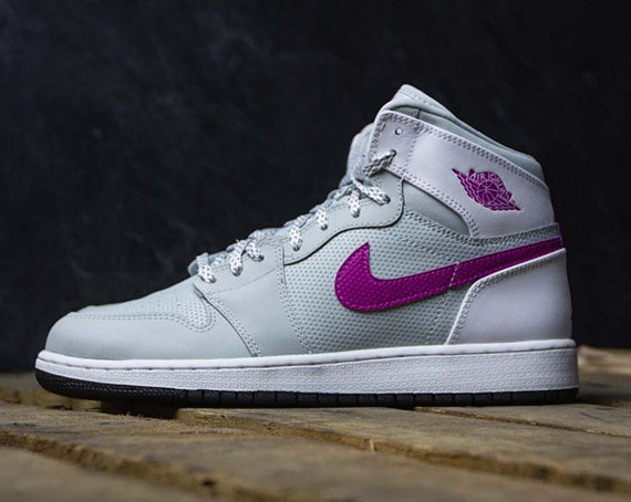 purple air jordans for girls