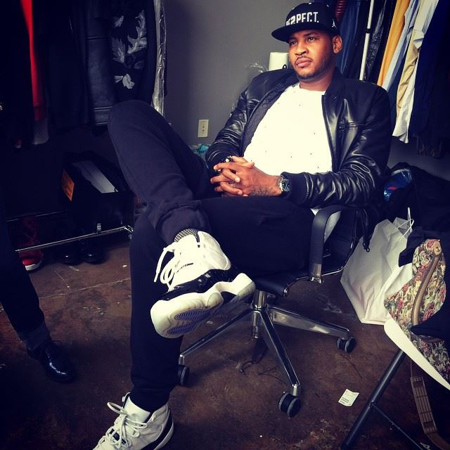 Carmelo Rests Up In Air Jordan 11 Concords - Air Jordans ...