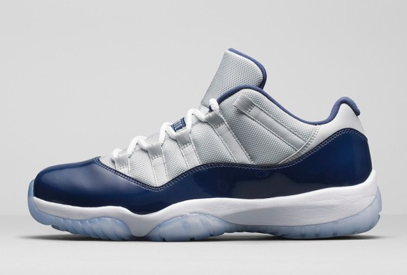 """Jordan Brand has released official images of the Air Jordan 11 Retro Low  """"Grey Mist"""" hitting this weekend. The grey and navy blue combination  provides an ..."""