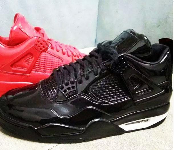 red air jordan 11lab4 black