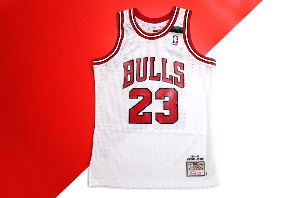 44e4906e1af2e ... reduced mitchell ness to release michael jordans jersey from the shrug  game air jordans release dates