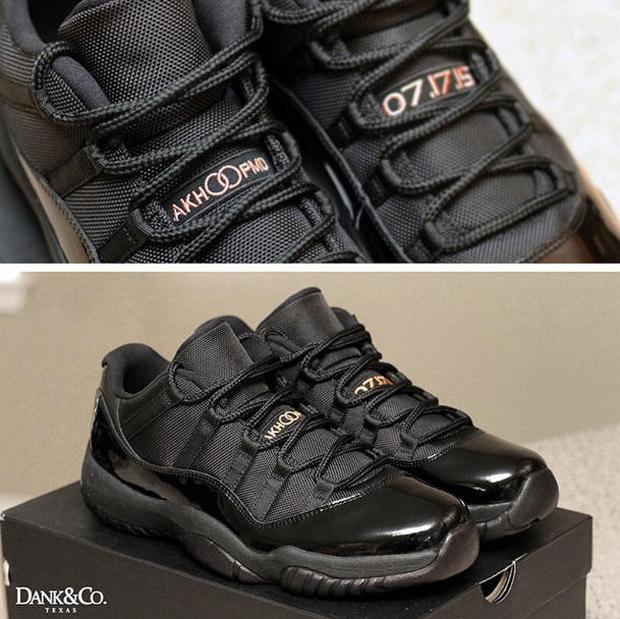 purchase cheap db2a5 0236b ... closeout air jordan 11 low black wedding custom danklefs e3ec2 c5f26