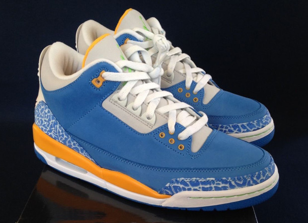 "45401fc161d074 Hard to believe eight years have passed since the Air Jordan 3 ""Do the  Right Thing"" hit shelves. Jordan Brand put together a Brisk Blue Pro  Gold-Radiant ..."