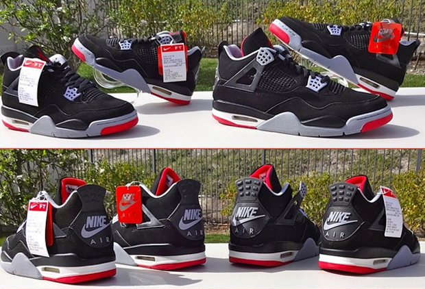 The Daily Jordan: Air Jordan 4 Retro Black/Cement Grey - 1999