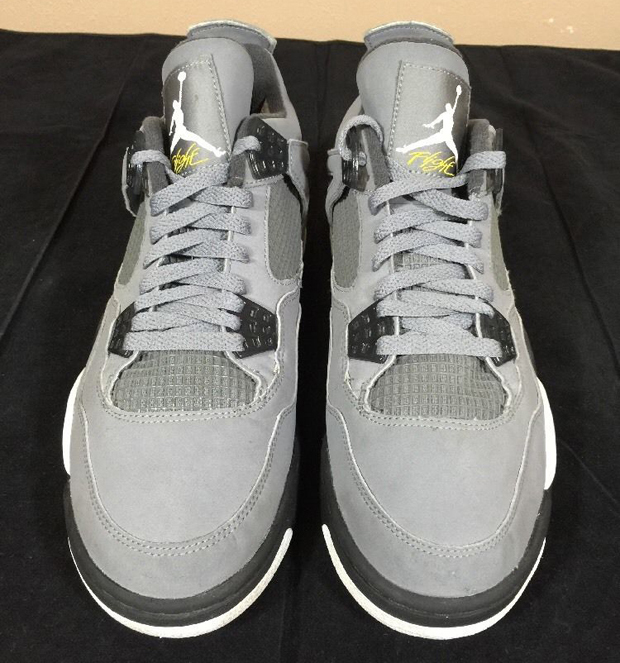 newest 1dfb1 c3ae2 Air Jordan 4 IV Retro KAWS SZ 12 Cool Grey Suede Glow In ...