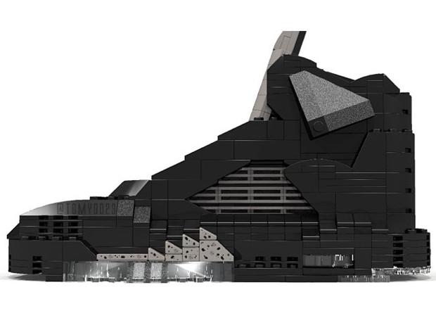 Air Jordan 5 Black Metallic Silver Lego-ized - Air Jordans 2515e9467