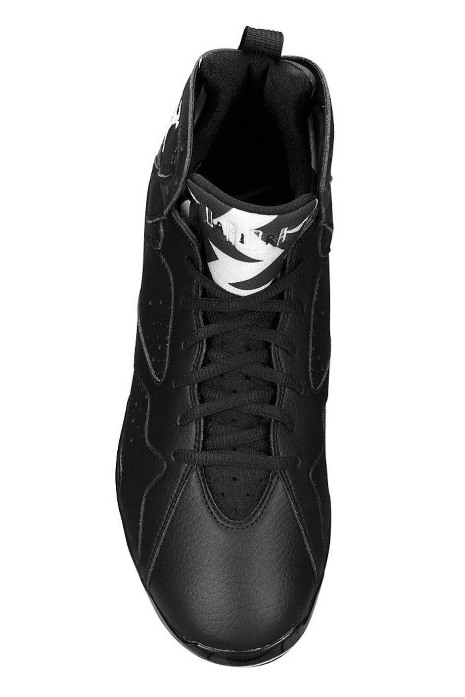 air jordan 7 cleat black white 4