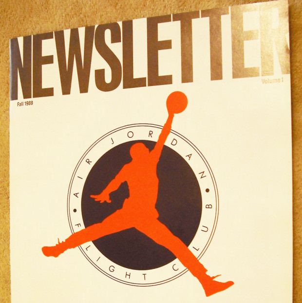 Vintage Gear: 1st Air Jordan Flight Club Newsletter - 1989