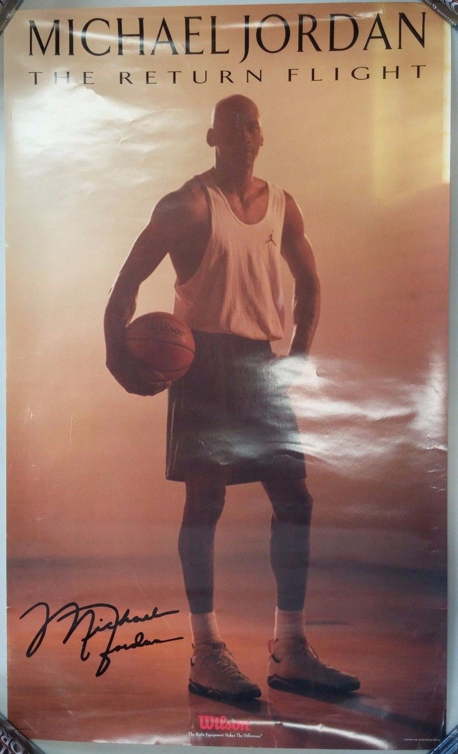 Michael Jordan  Dunking Framed Poster Print 36x24 on a