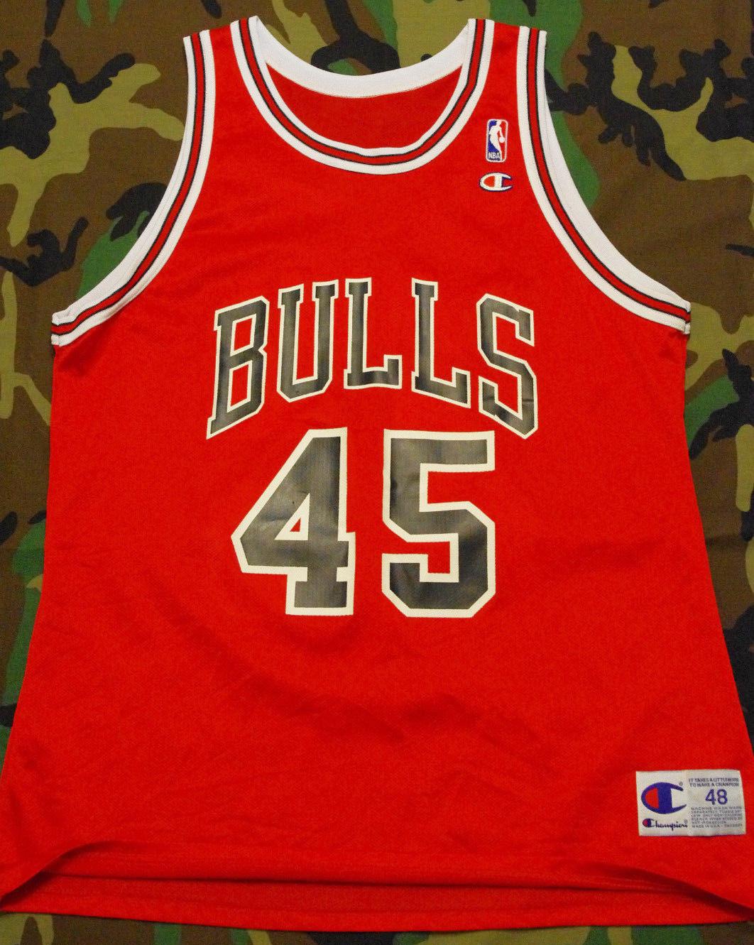 Vintage Gear: Champion Michael Jordan #45 Bulls Replica Jersey,XQAWDDY142,\\u0026quot;Air Jordan 13 CP3\\u0026quot;