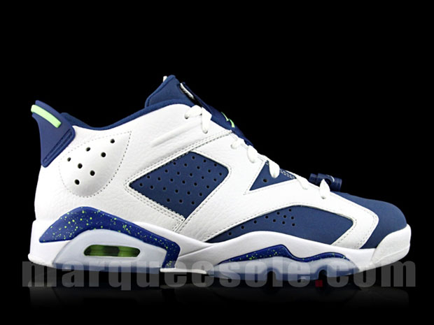 6a53a9ca7430a4 Air Jordan 6 Retro Low White Green Blue ukpinefurniture.co.uk