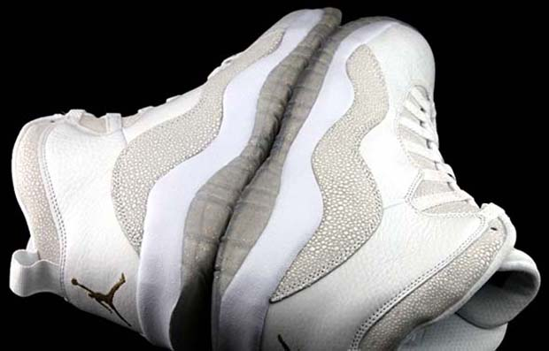 Air Jordan 10 OVO - Summit White - Metallic Gold