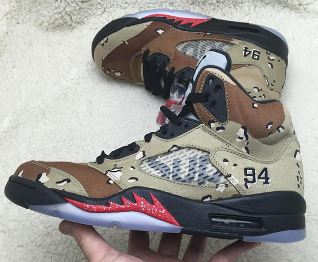 427a18c7b5f549 With more and more photos of the Supreme x Air Jordan 5 circulating