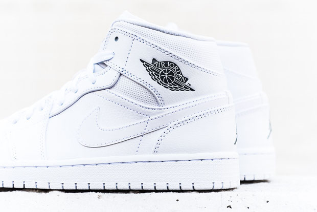 Air Jordan 1 Mid - White - Cool Grey